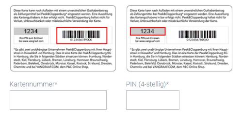 ad63bc9de73417 Wie werden Gutscheine ShoppingCards mit 13-stelliger Nummer eingelöst